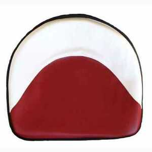 Pan Seat 21 Deluxe Cushion Vinyl White Red Compatible With Ford