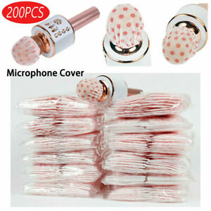 200PCS Disposable Non woven Microphone Cover Handheld Mic Sanitary Filter Covers $13.59