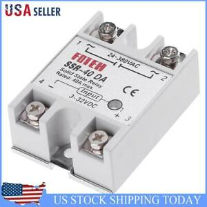 Single Phase Dc 3 32v To Ac 24 380vac Ssr 40da 40a Solid State Relay Module