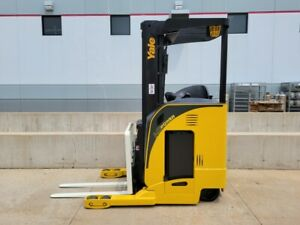 2011 Yale Nr040dans24te091 Electric Reach Truck Narrow Aisle Forklift Stand Up