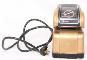 Simplex Ha2gdh Vtg Time Punch Clock Stamp Recorder Gold Office Plug In