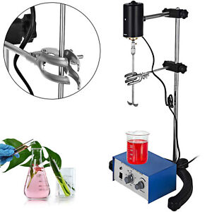 100w Electric Overhead Stirrer Mixer Corrosion Resistance Lab Steel Shaft