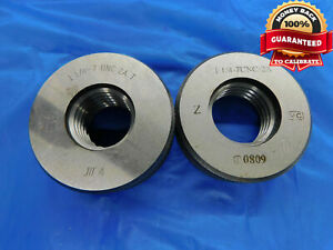 1 1 8 7 Unc 2a Solid Thread Ring Gages 1 125 Go No Go P d s 1 0300 1 0228