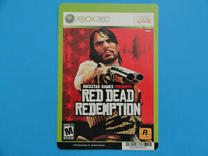 Xbox 360 Red Dead Redemption Blockbuster Video Store Shelf Display Card no Game