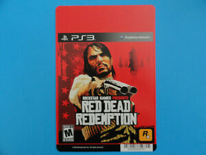 Playstation 3 Red Dead Redemption Blockbuster Video Store Shelf Display Card