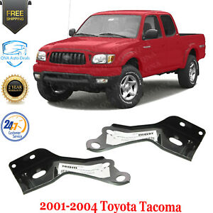Front Bumper Impact Brackets Left Right Side Steel For 2001 2004 Toyota Tacoma