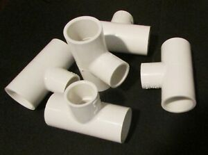 Five Spears Sched 40 1 x1 x3 4 Pvc Reducing Tee s Glue slip Fit Free Shipping