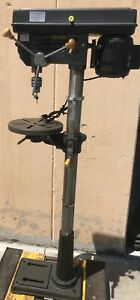 Used Floor Drill Press Machine 16 Speed 13 In Swing Table Drilling