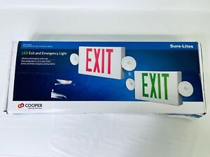 Sure lites White Integrated Led 2 head Emergency Light Exit Sign
