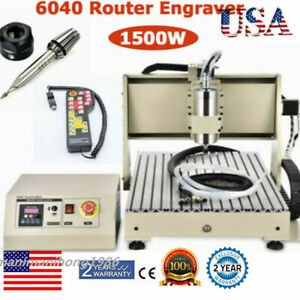 Usb 3axis Cnc 6040 Router Engraver Machine Drill Woodwork Cutting 1 5kw Rc