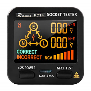Reenwee Outlet Tester Ebtn Lcd With Voltage Display Gfci Receptacle Socket Line