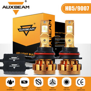 Auxbeam 9007 Canbus Led Headlight Bulbs Conversion Kit High Low Beam Super White Fits 2004 Saturn Ion