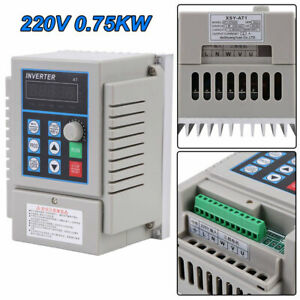 0 75kw Ac 220v Single 3 Phase Vfd Variable Frequency Drive Inverter Adjustable