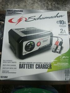 Schumacher Electric 10 amp Metal Case Battery Charger Sc1282 new