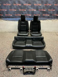 2010 Camaro Ss Oem Coupe Black Leather Front Rear Seats