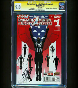 Captain America amp; the Mighty Avengers #1 CGC 9.8 SS Lee SINGLE HIGHEST RARE $419.95