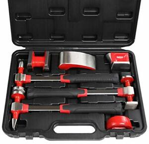 Campt Auto Body Repair Kit Heavy Duty Auto Body Hammer And Dolly Set Of 7 Piece