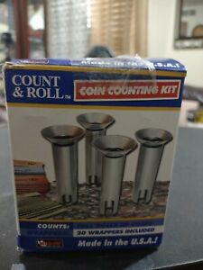 Coin Counting Sorter Kit drop In Coins spill Excess And Roll B143