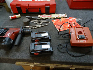 Hilti Te6 a Rotary Hammer Drill Kit W 2 Batteries C7 36 acs Charger Manual Case