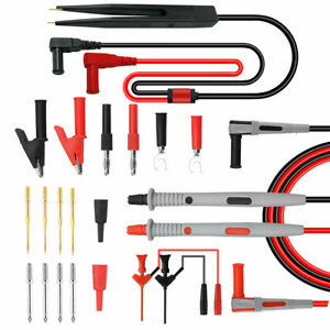 21 piece Multimeter Test Leads Kit With Probes Alligator Clips Test Hooks