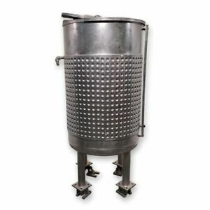 Used 240 Gallon Stainless Steel Jacketed Liquid Weigh Mix Tank Kettle