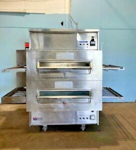middleby Marshall Ps360q H duty Double Stacked Nat Gas 32 Conveyor Pizza Oven