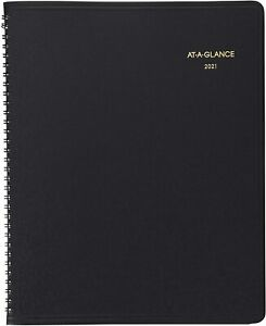At a glance Recycled Monthly Planner Black 8 7 8 X 11 2014 2015