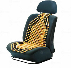 Wooden Beaded Car Seat Cover Comfort Roller Beads Support Massage Air Flow