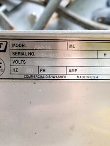 Hobart Am 14c Am14 Commercial Corner Tall Upright Dishwasher Parts works Read