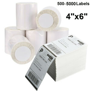 500 4000 Direct Thermal Address Shipping Labels 4x6 Perforated For Rollo Zebra