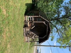 12x12 Wooden Log Cabin Storage Buildings Sheds One Bedroom Two Side Windows