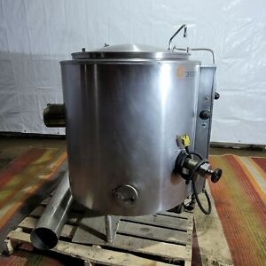 Groen Jacketed Steam Kettle Ah 1 40 Natural Gas 40 Gallon Commercial Kitchen Cps