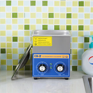 2l Ultrasonic Cleaner Stainless Steel Industry Heater With Timer Jewelry Lab