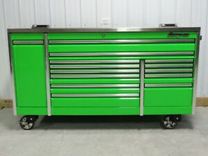 Snap On Extreme Green 84 Epiq Tool Box Toolbox Stainless Steel Power Top