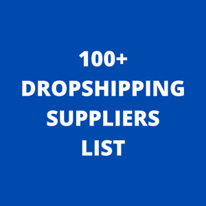 100 Dropshipping Suppliers List 0 99 Drop Shipping Update 2021