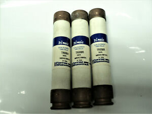 Ferrax shawmut Trs50r Fuse 50amp lot Of 3 Fuses Used Tested With Meter