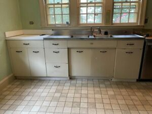 Vintage Tracy Double Drainboard Sink And Geneva Metal Cabinets