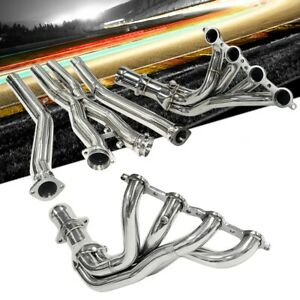 Megan Racing Stainless Header Exhaust W X Pipe For 97 04 Corvette C5 Ls1 Ls6 V8