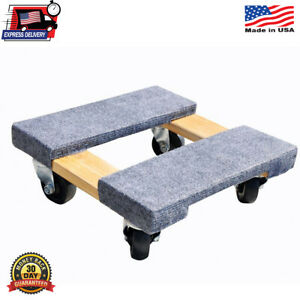 Mover Rolling Wheels Wood Furniture Dollies Industrial Appliances 800lb Capacity