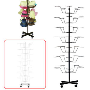Hat Rotating Spinner Display Stand Floor 7 Tier Sock Clothing Display Stand