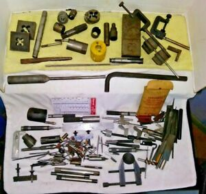 Vintage Lot Of Machinist Tools Starrett Etc Inspection Drill Die Points Mixed