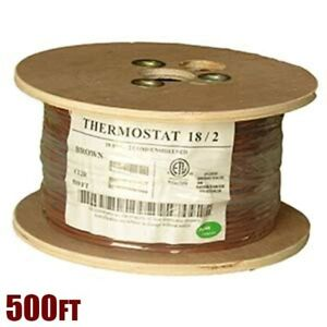 500ft 18 2 Unshielded Cmr Heating Air Conditioning Hvac Ac Thermostat Cable Wire