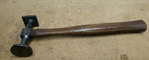 Vintage Snap on Bf 606 Round Square Face Auto Body Hammer Original Handle