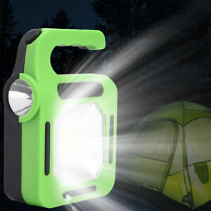 Cob Work Torch Flood Lamp Solar Camping Led Inspection Light Usb Rechargeable