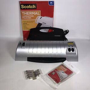 Scotch Thermal Laminator Tl901 Home School Office Tested Works 3 5 mil Pouches