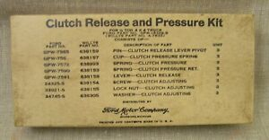 1941 1945 Nos Ford Gpw Willys Mb Jeep Clutch Release Pressure Kit Gpw 18359 B
