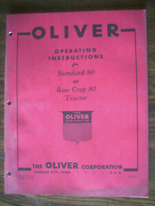 Oliver 80 Owners Manual
