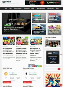 Cryptocurrency News Website Run On Autopilot Free Hosting