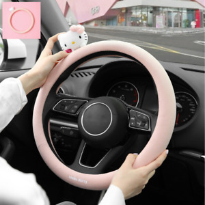 Cute Hello Kitty Universal Steering Wheel Cover Car Accessories Women Girl Lady