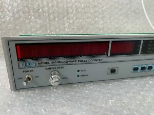 Eip Microwave 585 Microwave Pulse Counter Main Panel Buttons Back Panel